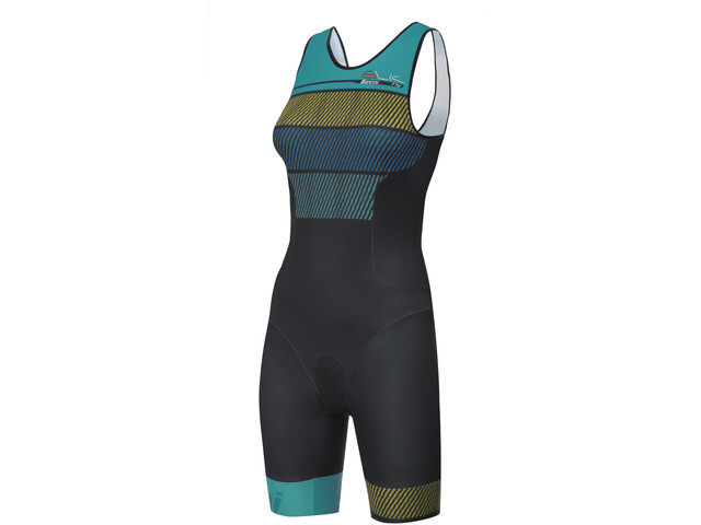 Santini Sleek 776 Damer sort/petroleumsgrøn (2019) | swim_clothes